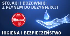 NOWOŚĆ! - stojaki i dozowniki z płynem do dezynfekcji